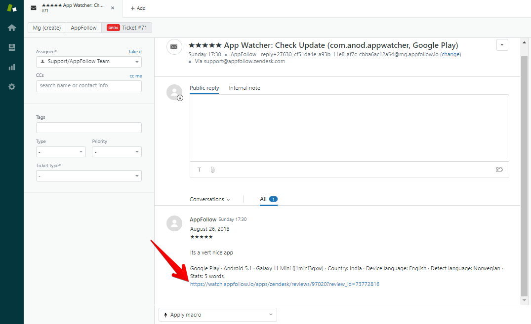 Zendesk Integration: get reviews and send your responses