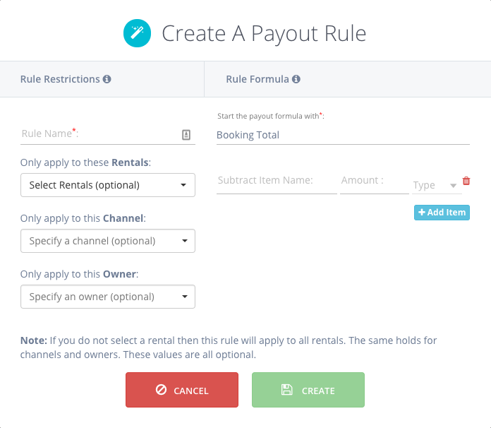 Payout Rules - Tokeet Help   Vacation Rental Management Software