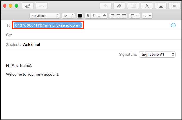 How to send and receive SMS by email  - ClickSend Help Docs