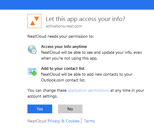 Neat Lightweight App Send a contact to Outlook - Step 6