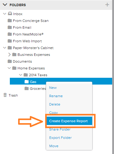 Neat Lightweight App Create an expense report - step 1