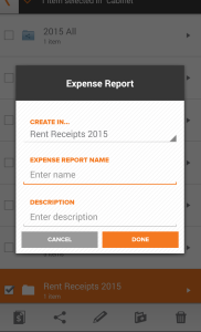 Neat Mobile App - Create an expense report - Step 4