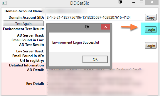 Check that the user's email address is populated and that they can login through the tool