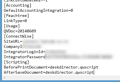 Add scripting lines to SITE.INI file
