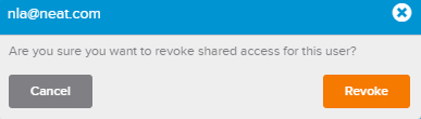 nla revoke single sharee