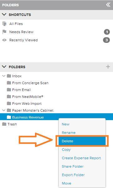 Neat Lightweight App Delete folders - Step 1