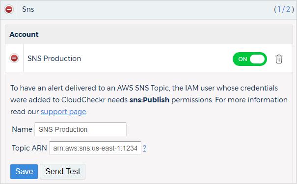Integrate with Amazon SNS - CloudCheckr Success Center