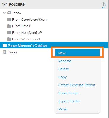 Neat Lightweight App Create folders - Step 1-2