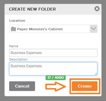 Neat Lightweight App Create folders - Step 2