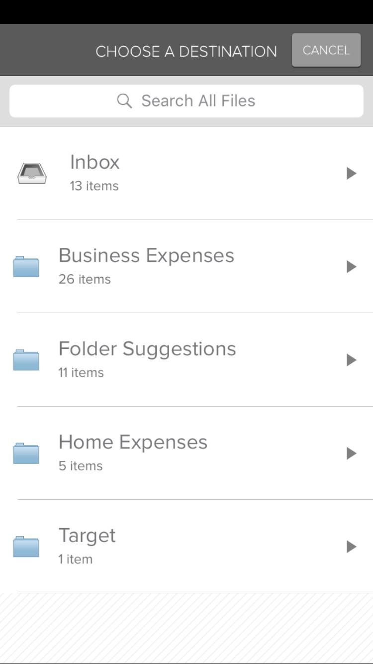 move - chose folder