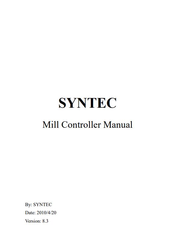 SYNTEC Mill Controller Manual
