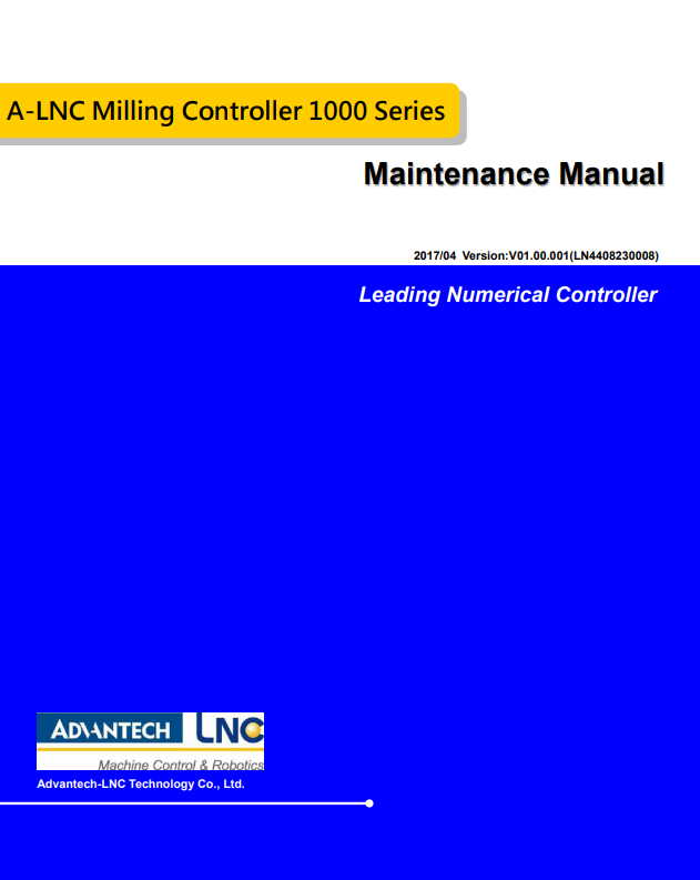 Maintenance Manual (PDF)