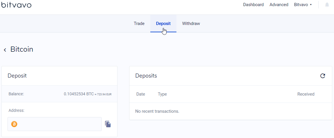 How do I transfer (deposit) digital currency to my Bitvavo