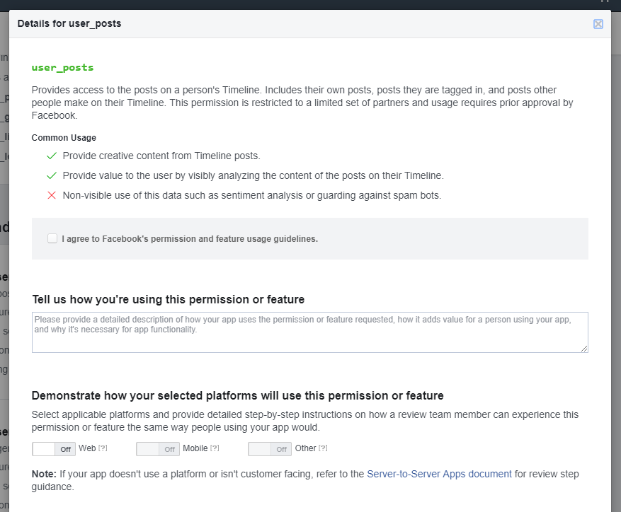 Extended Facebook Permissions - AE Support Docs & Help Center