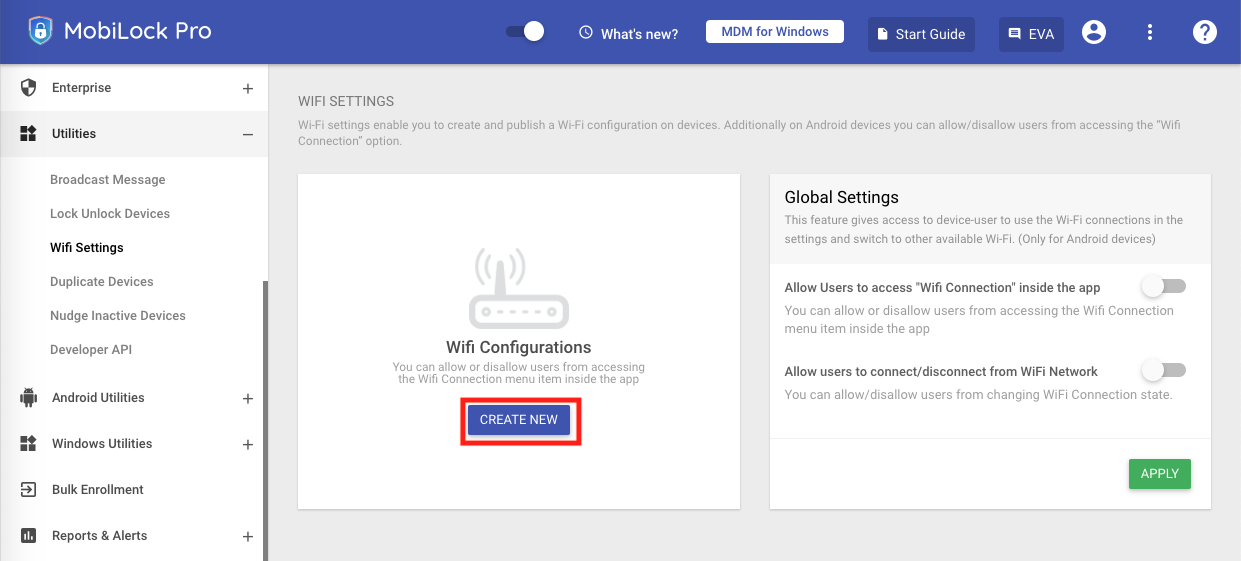 Configure Wifi Network on Windows Devices - MobiLock Help