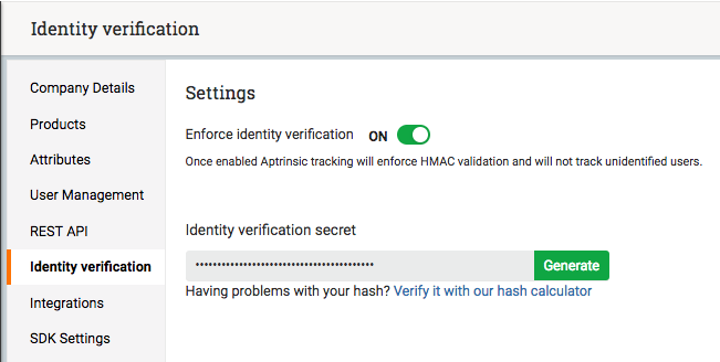 Identity HMAC Verification (SHA256) - Gainsight PX Product