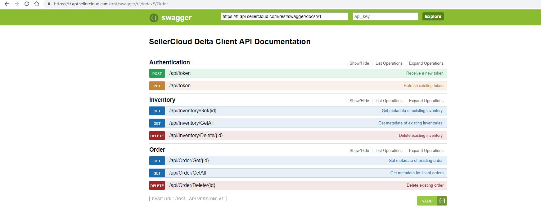 SellerCloud API Docs - REST Services Overview