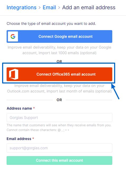 Office365 / Outlook integration - Gorgias Helpdesk and