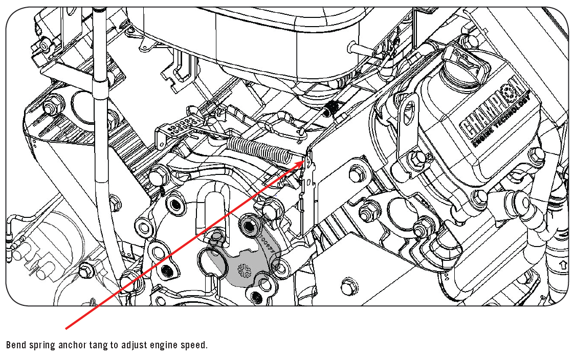 Engine Speed Setting Adjustment - Champion Help Center