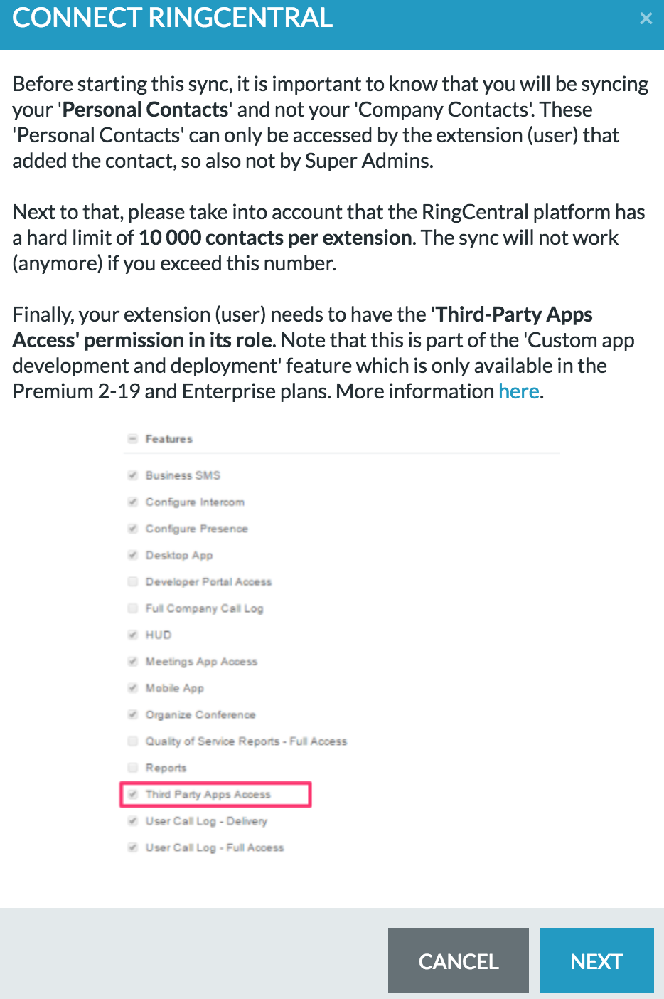 RingCentral - PieSync Help Center