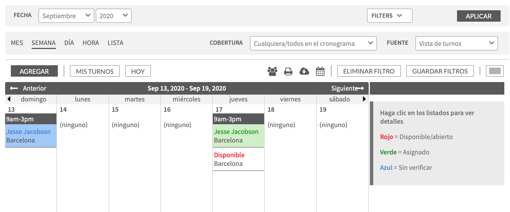 Calendario Turnos.Confirmacion De Turnos Helpdocs