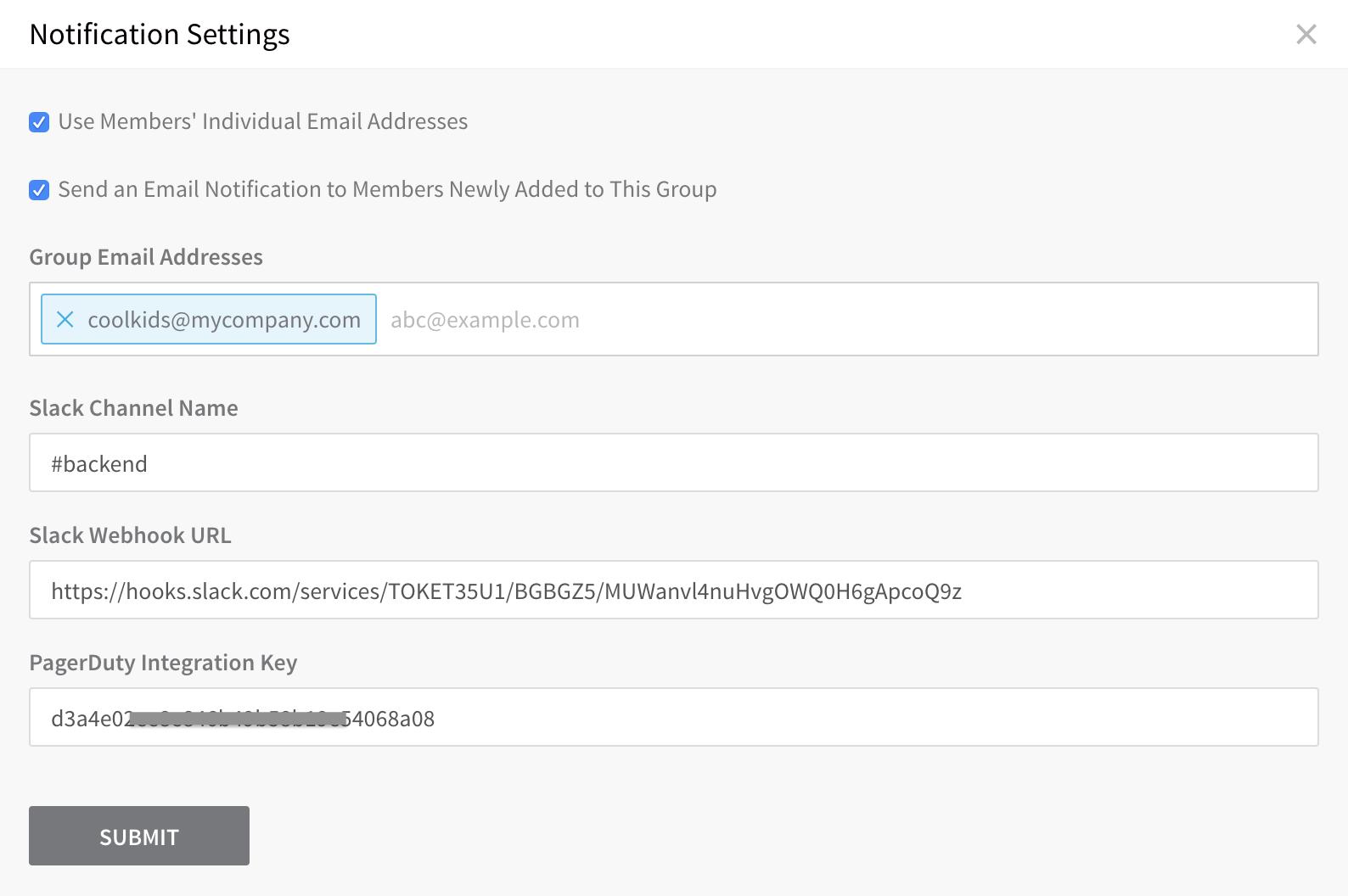 User Notifications and Alert Settings - Harness io Docs