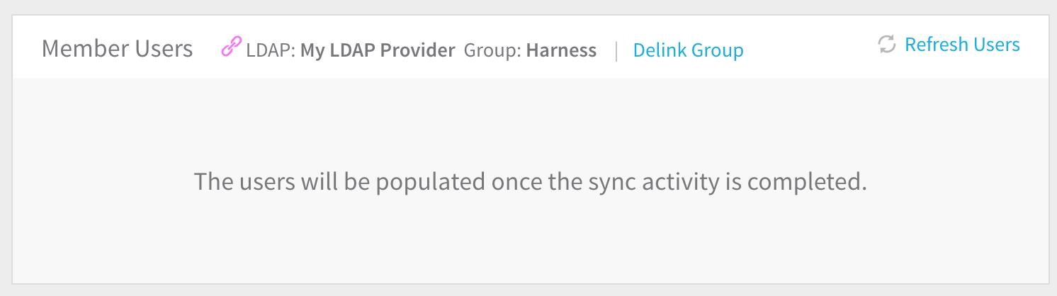 Single Sign-On (SSO) with LDAP - Harness io Docs