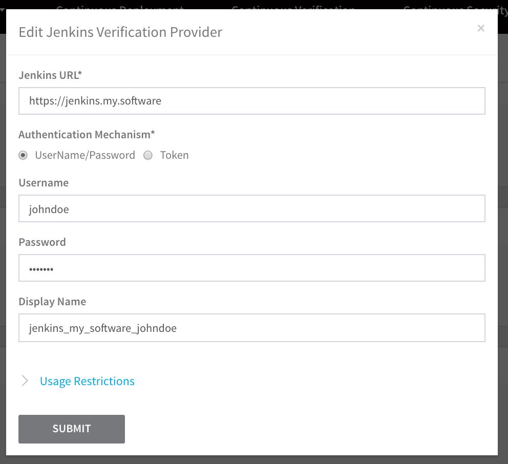 Add Verification Providers - Harness io Docs