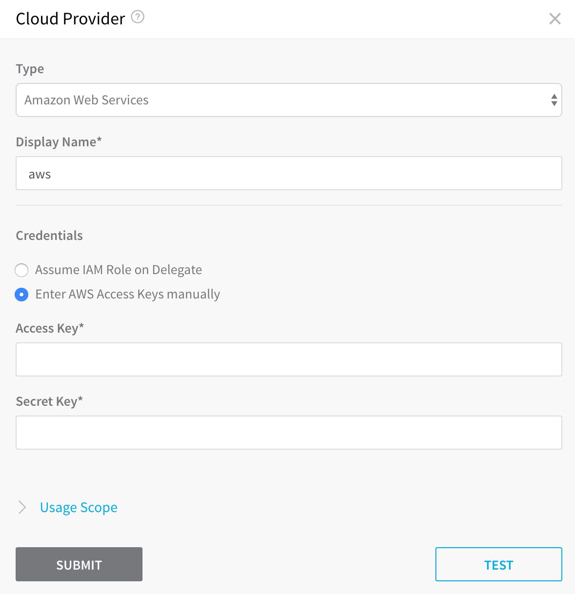 Add Cloud Providers - Harness io Docs