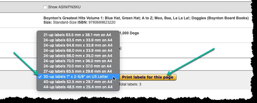 Printing on 30UP Labels - AccelerList
