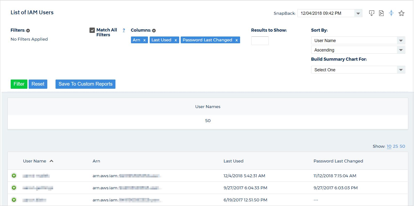 List of IAM Users Report - CloudCheckr Success Center