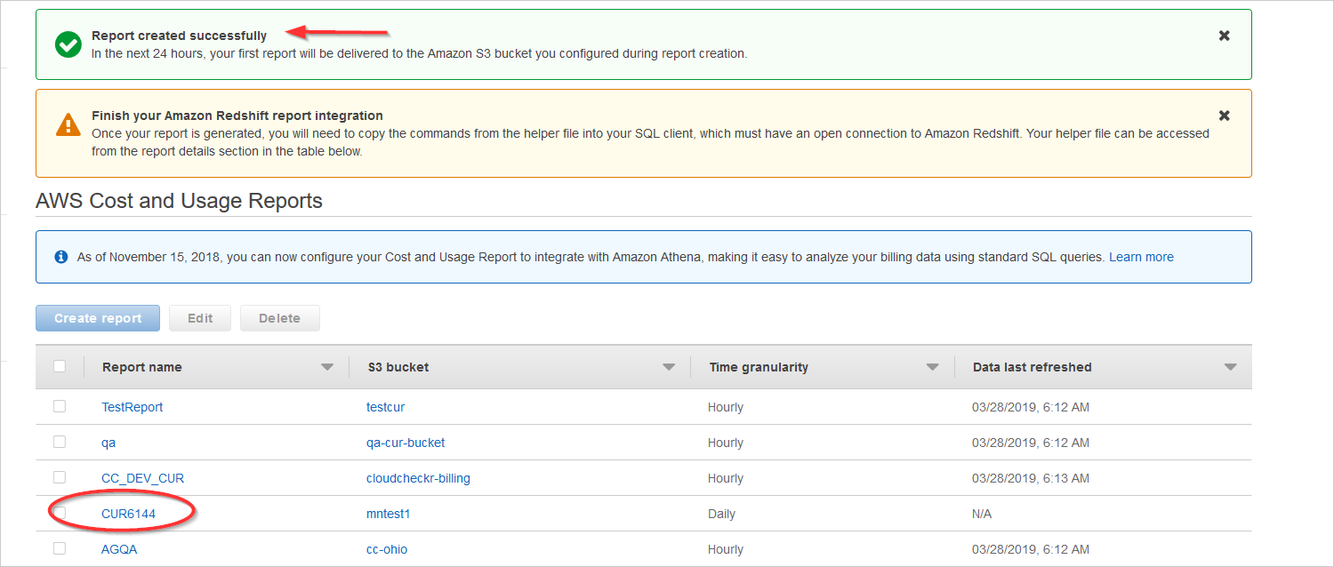 Configure the Cost and Usage Report in AWS - CloudCheckr Success Center