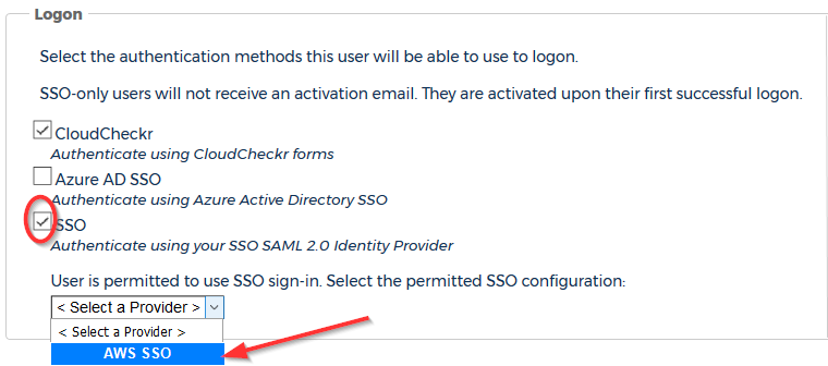 SSO – Single Sign-On Setup: AWS - CloudCheckr Success Center