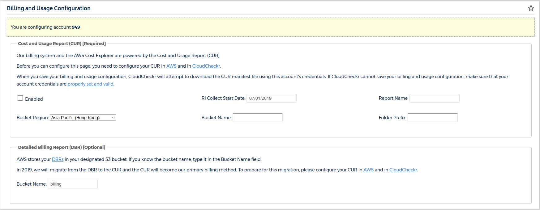 Configure the Cost and Usage Report in CloudCheckr