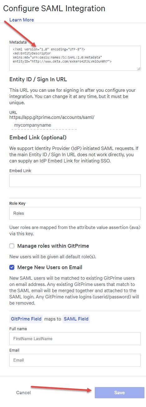 OneLogin - GitPrime Help Center