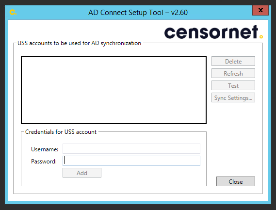 AD Connect software - Help :: Unified Security Service