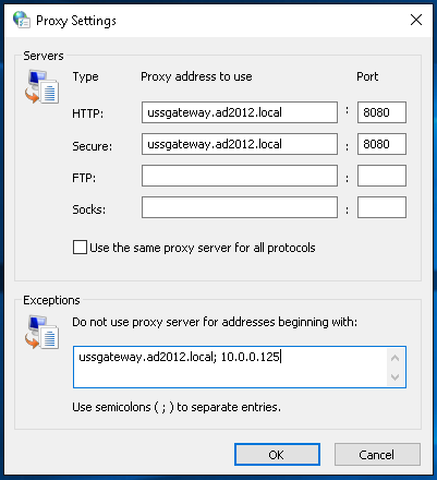 Deploying Web Browser proxy settings - Help :: Unified