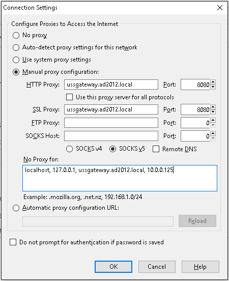 Deploying Web Browser proxy settings - Help :: Unified Security Service