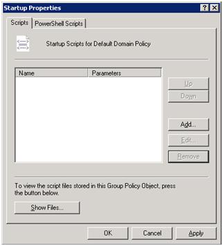 Deploying via Startup/Shutdown script - Help :: Unified Security Service