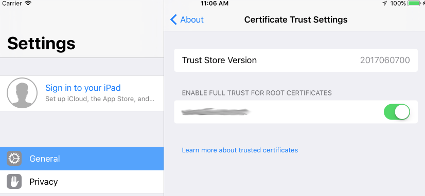 Installing SSL Certificates On IOS 10 3/IOS 11 Devices - Help