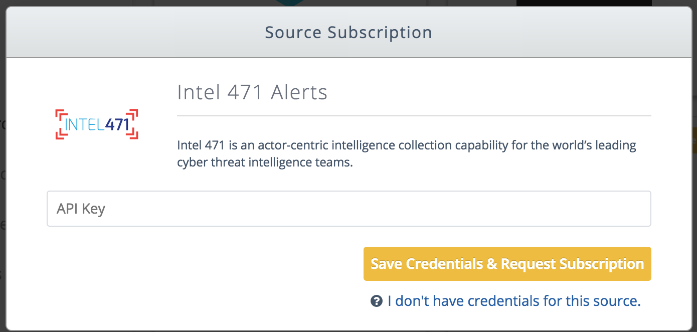 Intel 471 Alerts Watchlist - TruSTAR Knowledge Base