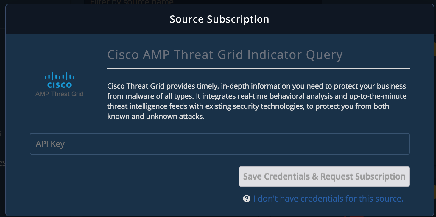 Cisco AMP Threat Grid Indicator Query - TruSTAR Knowledge Base