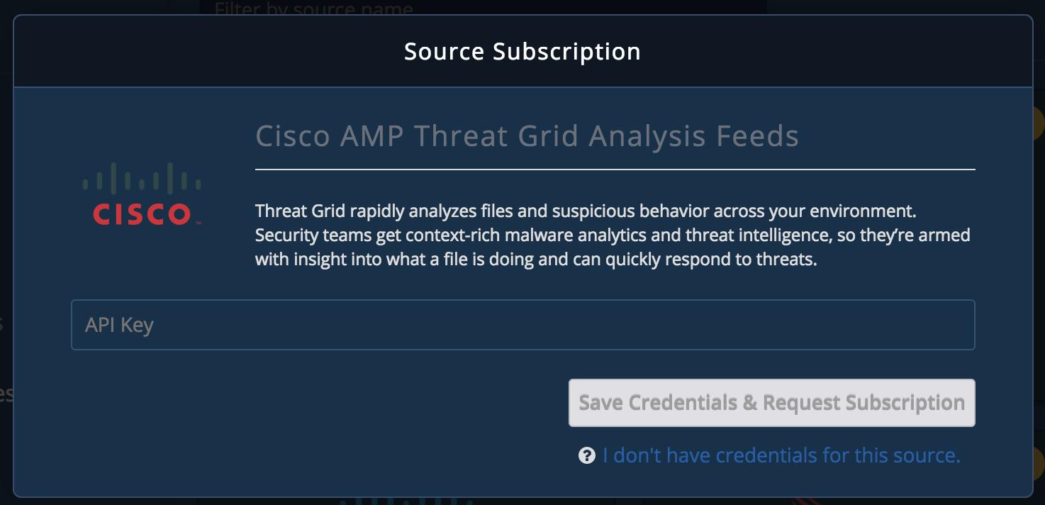 Cisco AMP Threat Grid Feed - TruSTAR Knowledge Base
