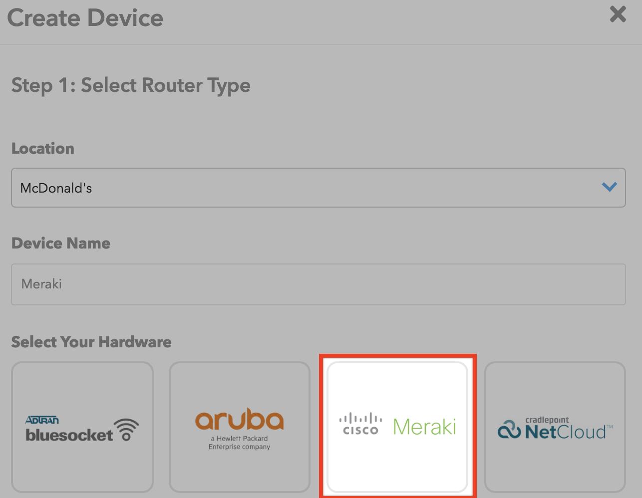 Cisco Meraki Cloud Integration (Existing Manual Setup