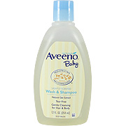 Aveeno Baby Wash & Shampoo Lightly-Scented With Natural Oat Extract -
