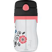 Foogo Leak Proof Straw Bottle Poppy Patch Design -