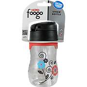 Foogo Plastic Straw Bottle Poppy Patch -