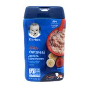 Lil' Bits Oatmeal Banana Strawberry Cereal -