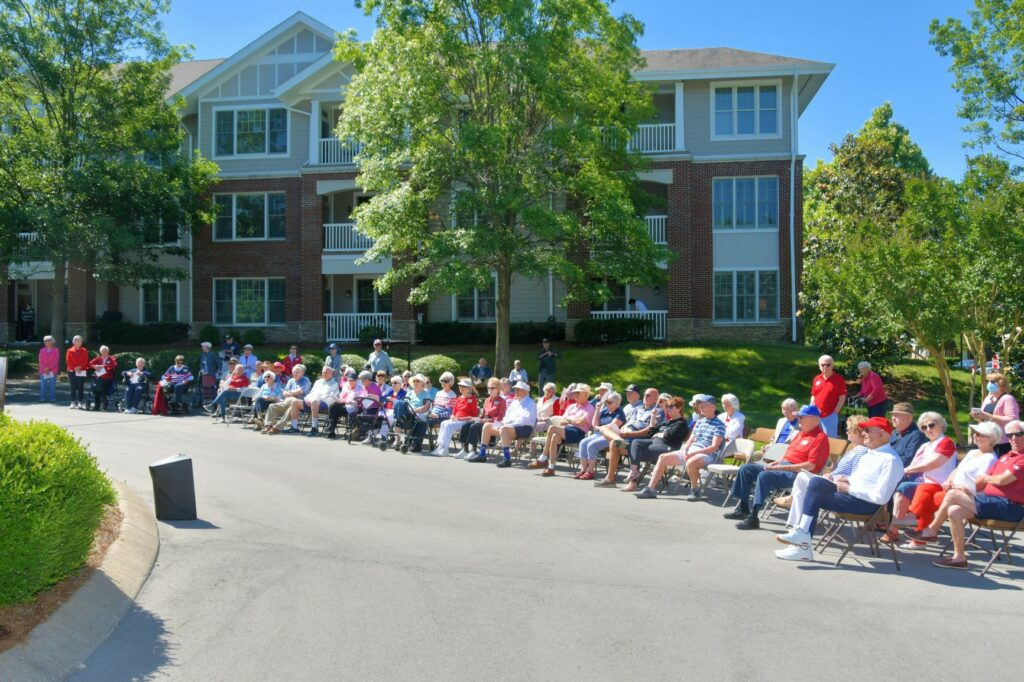 Over 50 residents of THAB attended Monday's resident-led Memorial Day Celebration. Photo by John Philbrick.