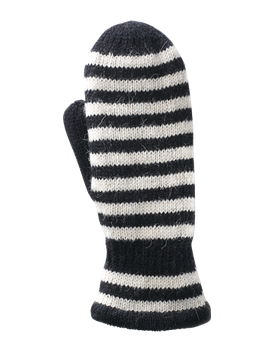 Striped Mitten Ladies (Svart / Offwhite)